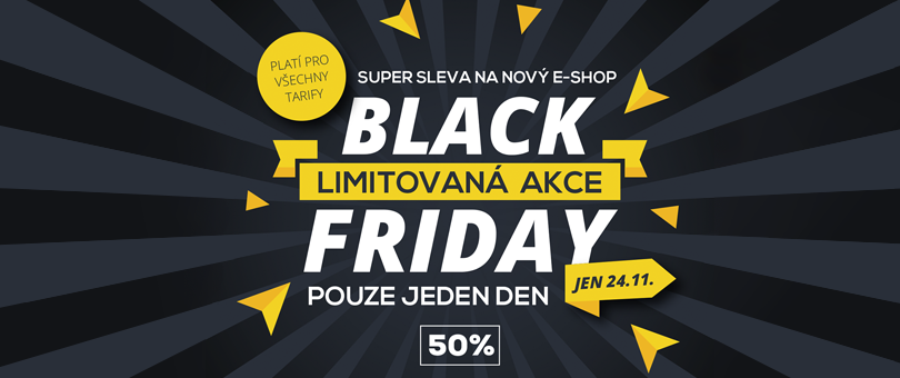 Black Friday - E-shop s 50% slevou