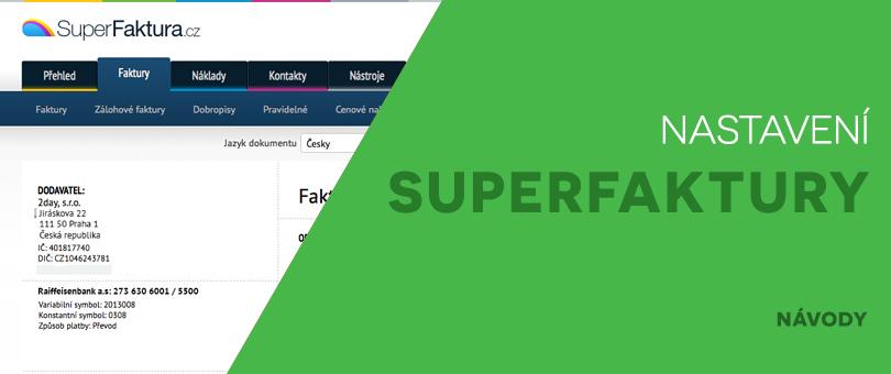 Nastavení SuperFaktury